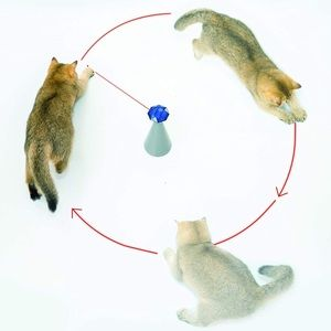 Automatic Rotating Laser Pointer Cat Toy